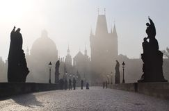 Prague - charles bridge Stock Photo