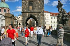 Prague - Charles Bridge Stock Photography