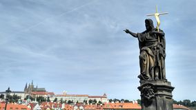 Prague , Charles bridge Stock Photos