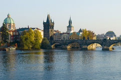 Prague, Charles bridge Stock Photo