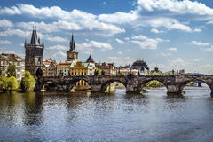 Prague, Charles Bridge (Karluv Most) Stock Photo