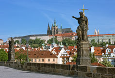 Prague, Charles Bridge & Lesser Town stock images