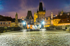Prague, Charles Bridge and Mala Strana. Royalty Free Stock Images