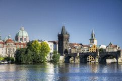 Prague - Charles bridge Stock Image