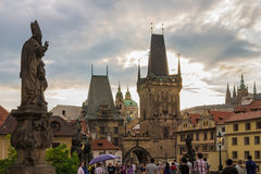 Prague Charles Bridge Royalty Free Stock Photo