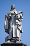 Prague - Charles bridge - st. Philip Benizi statue Stock Image