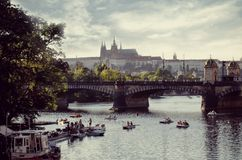 Prague. And Charles Bridge in summer. Enjoy stock photography