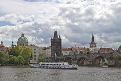 Prague Charles bridge Stock Photos
