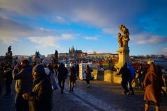 Prague - Charles Bridge Royalty Free Stock Photo
