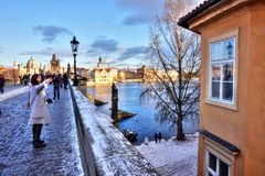 Prague - Charles Bridge Royalty Free Stock Photography