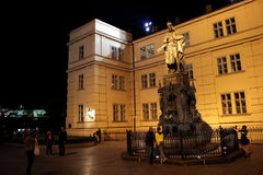 Prague Charles monument 01 Royalty Free Stock Image