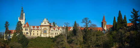 Prague, Chateau Pruhonice panoramic view Royalty Free Stock Photography