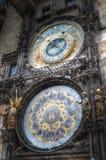 Prague chimes arkivfoton