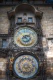 Prague chimes royaltyfria bilder