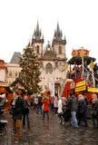Prague Christmas market stock photography
