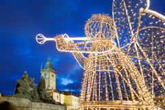 Prague Christmas market on Old Town Square in Prague, Czech rep stock images