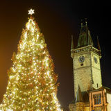 Prague at Christmas time Stock Photos