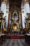 Prague church interior. As nice architecture background Stock Photography