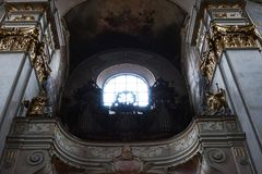 Prague church interior. As nice architecture background Stock Images