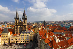 Prague. Church of Mother of God in front of Týn. Stock Photos