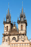 Prague Church of Mother of God before Týn Stock Photos