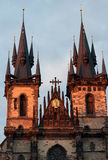 Church of Our Lady Before Tyn - Prague - Czech Republic Stock Photos