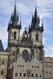 Prague, Church Of Our Lady Before Tyn Stock Image