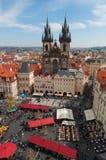 Prague. Church and sky, spring in Prague Stock Photos