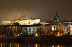 Prague city architecture beneath the castle Royalty Free Stock Images