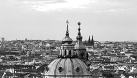 Prague towers. Historical city of Prague. royalty free stock photo