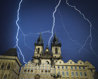Prague is the city and capital of the Czech Republic Royalty Free Stock Photo