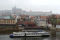 Prague is a city and the capital of the Czech Republic is a traditional European cultural center. Vltava River. Stock Images