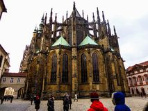 The prague city and the castle royalty free stock photo