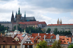 Prague city and Cathedral Saint-Guy Royalty Free Stock Image