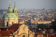 Prague city center. Historical centre of Prag, capital city of Czech republic Royalty Free Stock Image
