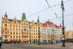 Prague City Center Náměstí Republiky Stock Images
