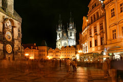 Prague city center at night. Stock Photography