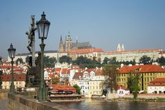 Prague City in the Czech Republic from the Charles Bridge Stock Photography