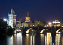 Prague city, Czech Republic at night time Royalty Free Stock Images