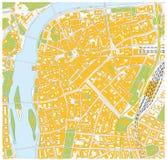 Prague city map Stock Photography