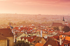 Prague City Morning Skyline Royalty Free Stock Photography