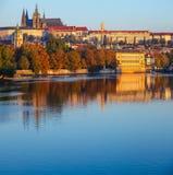 Prague city Morning view to Saint Vitus Cathedral Royalty Free Stock Image