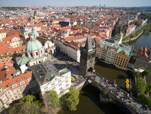 Prague. City, Old Town, Tower, Bridge Stock Images