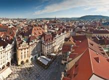 Prague City Panoramic Stock Images