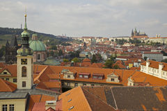 Prague - City Rooftops. Prague. Orange rooftops and historic architecture Stock Photography