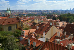 Prague city skyline Stock Photography
