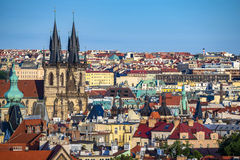Prague city skyline - Czech Republic Stock Photo