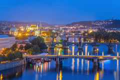 Prague city skyline Stock Image