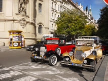 Prague City Tours. Vintage cars, Czech Republic Stock Photos