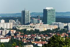 Prague city tower Stock Image